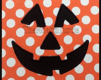 Pumpkin Face Applique Embroidery Design  Machine Embroidery Applique Jack-o-Lantern  Hallowen Embroidery Design Fall Embroidery Design