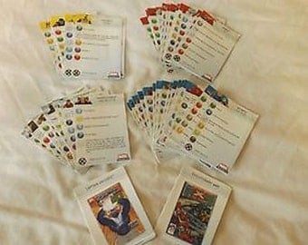Set of Marvel HeroClix Cards 54 Cards Yellow, Red, Blue, Grey  CL27-47