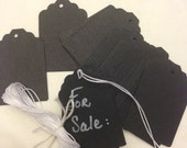 Black Tags  Set of 35   Made from Black chip board paper.