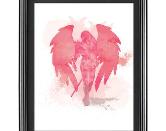 Digital Water Color Illustration of Archangel Ariel