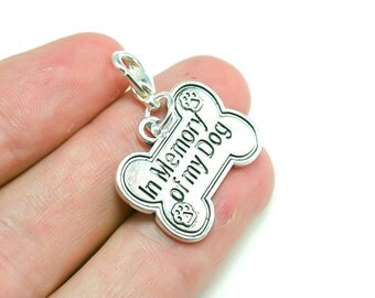Loss of a Dog Charm. Loss of a Pet. Sorry for your Loss. Dog Bone Charm. SCC346
