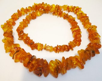 Beautiful Natural Polished Old 100% Baltic Amber Necklace 48gr. 68cm. Genuine (7)