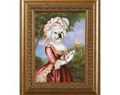 Dog Magnet, Frenchie Antoinette, French Bulldog, Refrigerator Magnet