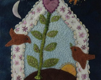 House Blessing Wool Applique Pattern with Kit (Wall Hanging)