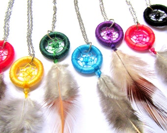 Dreamcatcher Necklace: dream catcher pendant, dream snare charm
