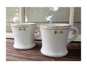 Antique Homer Laughlin Hotel China Mug/Coffee Cups -Set of 2-