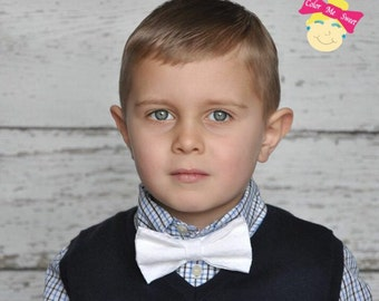 Boys white bow tie great for Easter great photo prop super cute