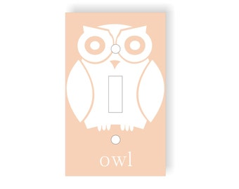 Owl Nursery Light Switch Cover, Forest Nursery, Woodland Nursery, Woodland Creatures, Forest Animals, Owl Switch Plate, Childrens Room Decor