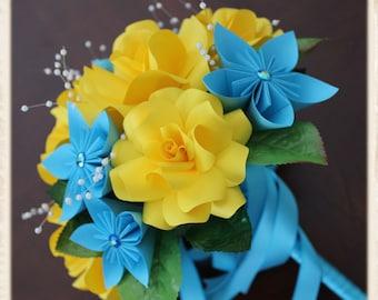 Paper Flower Bouquet, origami bouquet.