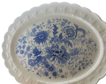 Bouquet-Blue Platter from Taylor, Smith, Taylor