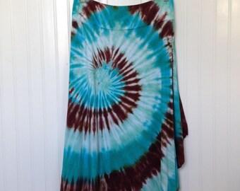 Tie dye maxi skirt, Tie dye midi skirt, Groovy skirt, Hand dyed skirt, Cotton tie dye skirt