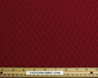 Ruby Quilt Knit Jersey Stretch Fabric by the Yard - 1 Yard Style 471