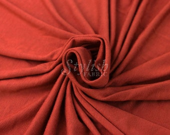 Rust Heavyweight Rayon Jersey Spandex Knit Fabric by the Yard - 1 Yard Style 406