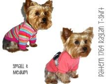 Dog Tee Shirt Pattern 1764 * Small & Medium * Dog Clothes Sewing Pattern * Dog T Shirt * Dog Shirt Pattern * Dog Apparel * Dog Clothing