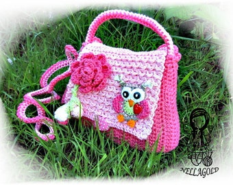 Crochet PATTERN, Owl Purse, Crochet owl bag, Crochet bag pattern, Handbag with Owl in Love, DIY Pattern 22