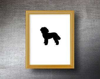 Poodle Silhouette Art 8x10 - UNFRAMED Hand Cut Poodle Print - Personalized Name or Text Optional