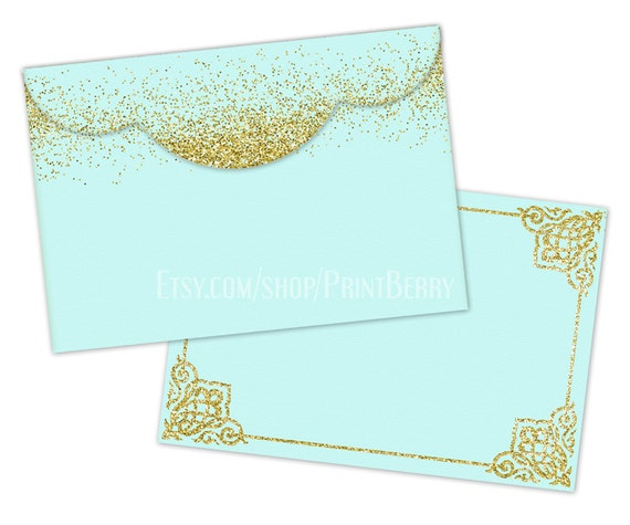 Printable Envelope Template Gold Glitter Envelopes X