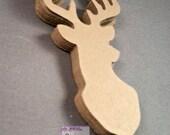 20   Deer diecuts - diecut mounted deer head - buck die cuts - wilderness diecuts-wedding - country - outdoor dies