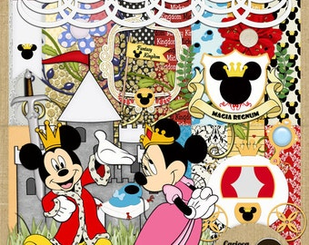 Mickey Kingdom Scrapbooking Kit from Carioca Digital