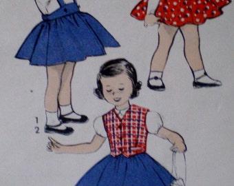 Vintage 1950s Advance Girls Weskit Skirt Sewing Pattern Advance 6340 Size4**  Epsteam
