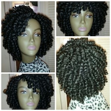 Crochet Hair Unit : Popular items for crocheted wig on Etsy