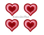 UNCUT Double Heart applique embellishment felties (4)