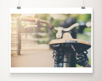 vintage bicycle photograph travel photography bicycle print cambridge photograph summer photograph hipster style brooks seat