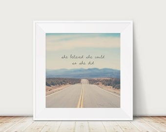 travel photography california photograph mountains photograph she believed she could so she did running photograph california print