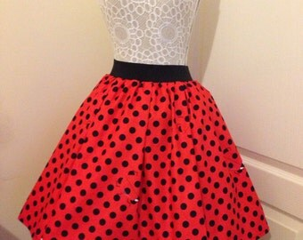 Ladies or girls Hidden Ladybug full skater syle skirt