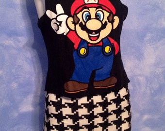 Mario Nintendo Character DIY Handmade Tank Top size Medium