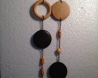 Beautiful wood and bead necklace