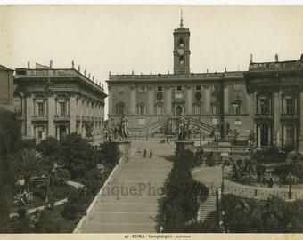 Campidoglio Rome antique art photo Italy