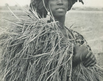 Pretty African woman w scarification vintage photo