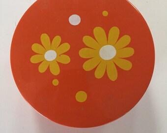 60's /70's flower power round box