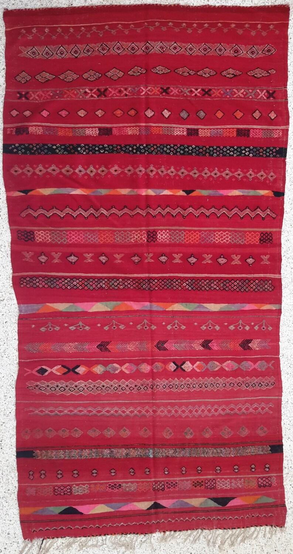 131 x 67 antico lana marocchina di tappeti kilim di moroccantribal