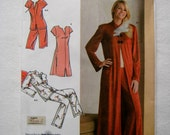 Simplicity Sewing Pattern 3968 Robe Top Long Pants Short Pants Loose Loungewear Pajamas Sleepwear Lingerie Size 8 10 12 14 16 UNCUT