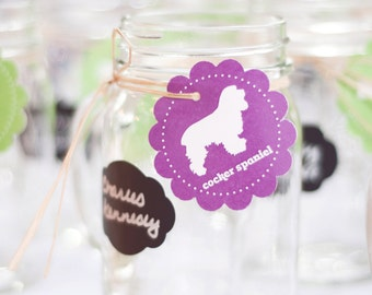 Dog Breed Wedding Seating Tags for Mugs with Table Cards
