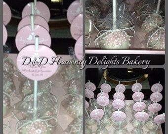 Pearls and white cake pops - One Dozen