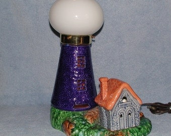 Lighthouse Lamp - Nautical Motif