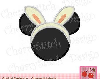 Easter Bunny Ears (Mickey),Mickey Embroidery Design,Mickey Applique Design -for 4x4 5x7 6x10 hoop-Machine Embroidery Applique Design
