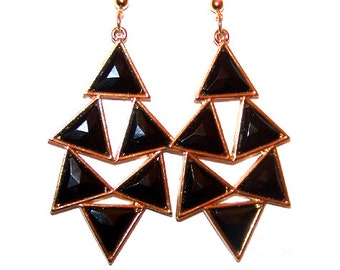 OPTIC ILLUSION Hand Painted Heavy Metal Earrings