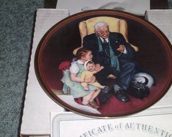 Tender Loving Care plate from Norman Rockwell 1988 The Ones We love collection
