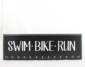 Swim Bike Run Medal Hanger for Triathlon Race Medals