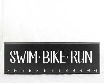 Swim Bike Run Medal Hanger for Triathlon Race Medals