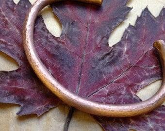 solid copper bangle