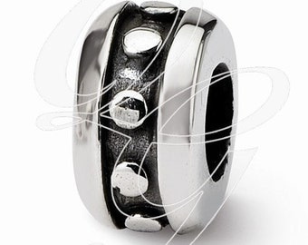 Sterling Silver Reflections Stopper/Spacer Bead (rb - 1401)