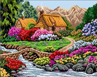 Cottage -Silent Spring -Cross Stitch Pattern -SALE