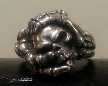 Unique Skeleton Hand Ring Related Items Etsy