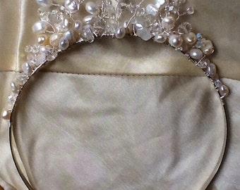 Gemstone Bridal tiara/headdress