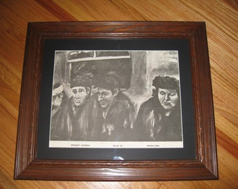 """MIDNIGHT EXPRESS 1978 PRINT Framed In A Vintage Wood Frame With Black Matt 17 1/2"""" x 20 1/2"""" Outside Of Frame"""